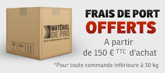 Frais de port offerts à partir de 100 € d'achat jusqu'au 14 Janvier 2012