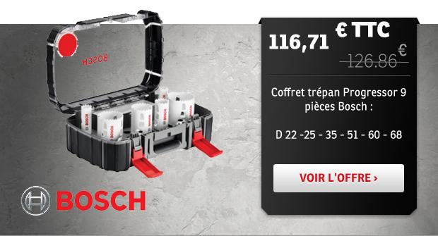 Coffret trépan progressor Bosch