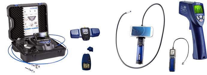 Camera d'inspection, instrument de mesure, systeme de ramonage Wohler