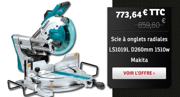 Scie à onglets radiales LS1019L D260mm 1510w Makita